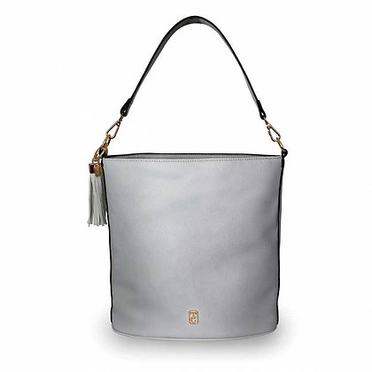 Surrey Grey Pebbled Leather Carry Bag
