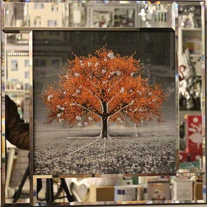 Saffron Mirrored Border Tree