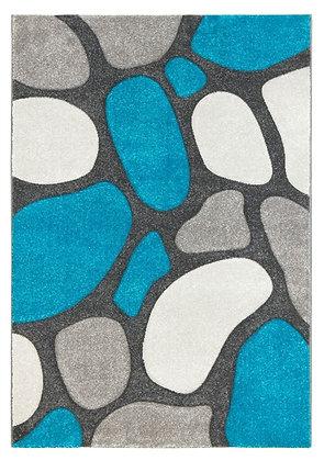 Pebbles Rug-Grey/Teal