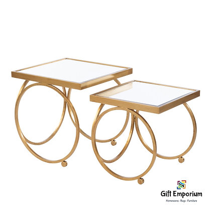 WINSTON NESTING TABLE SET GOLD