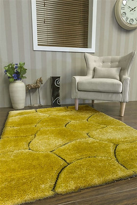 LUXUS STONES - SHAGGY RUG - YELLOW