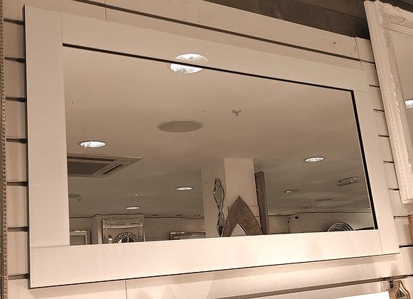 Elegance White Border Mirror