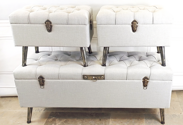 Set of 3 Trunks with Storage