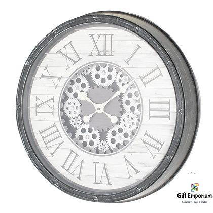 Clockworks gears clock ant grey 50cm TH5055