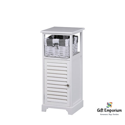 BOSTON 1 DOOR 1 BSK STORAGE CABINET WHITE