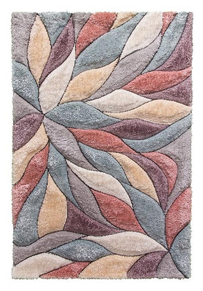 PASSION BLOOM - 3D SHAGGY RUG - MULTICOLOUR