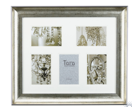 Lucy collage frame champagne 5 4 x 6
