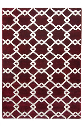 Toscana Quattro Geometric Rug – Red