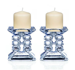 Pillar Candle Holder (Set of 2, 8.5 cms)