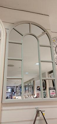Grey Palladian Mirror