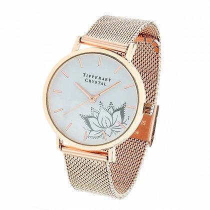 Rose Gold Flower Watch