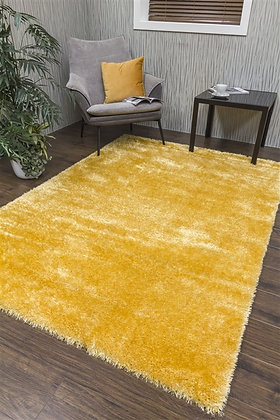 PLUSH SHAGGY RUG - YELLOW