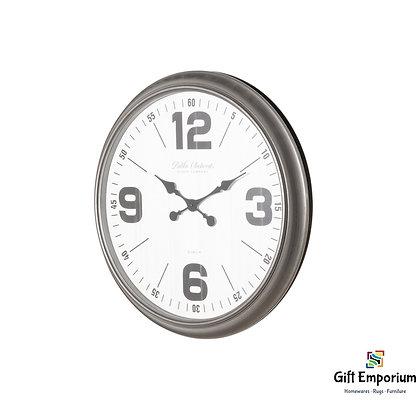 Retro wall clock 50cm antique silver B691