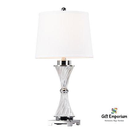 JENNA TABLE LAMP CHROME 69CM