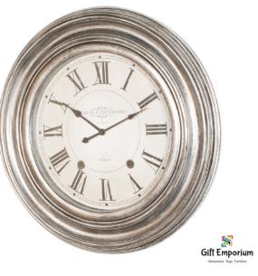 Dublin clockworks clock 66cm pewter