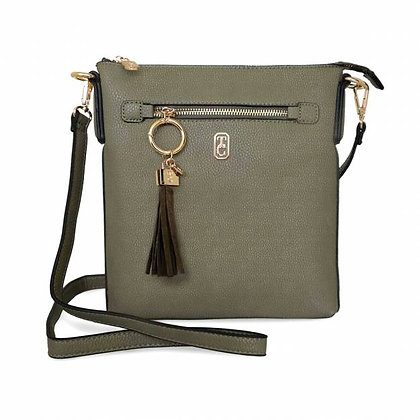 The Chelsea Cross Body Pouch Olive
