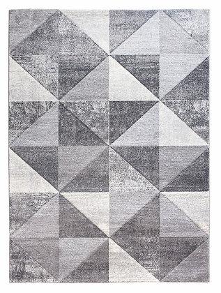 Impulse Triad Geometric Rug – Grey