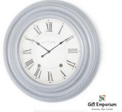 Hamilton clock distressed grey 66cm