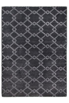 Toscana Quattro Geometric Rug – Dark Grey