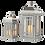 Thumbnail: Wooden lanterns grey/chrome med/sml