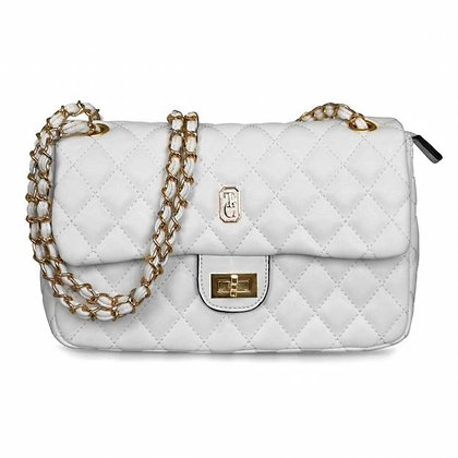 Palermo Off-White Padded Handbag
