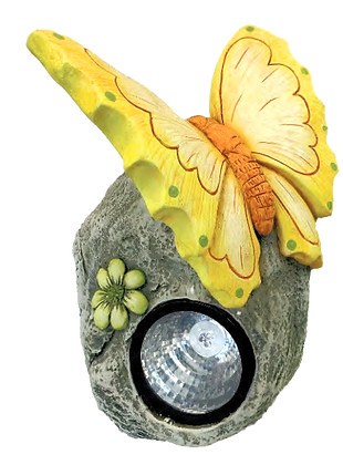 Yellow Butterfly/Solar Garden Light