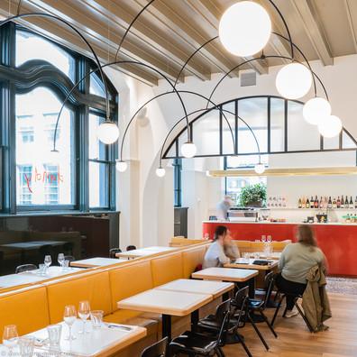 Photographie de décoration intérieure - Dandy Restaurant à Montréal