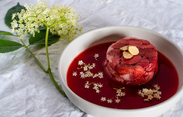 Photo culinaire - Gateau de Fraises cuites à la vapeur - Félicie Toczé