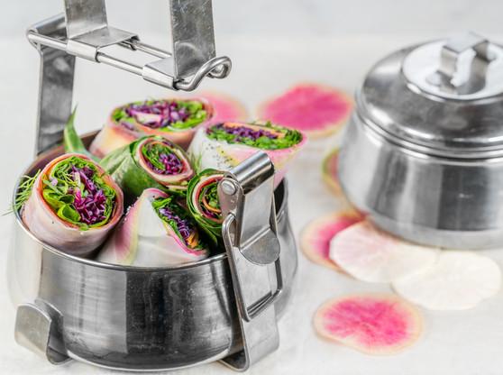 Photographie culinaire - rouleaux de printemps