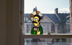 NED FLANDERS STAINED GLASS