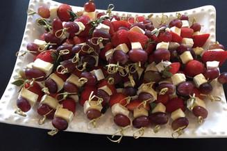 Fruit & Brie Skewers