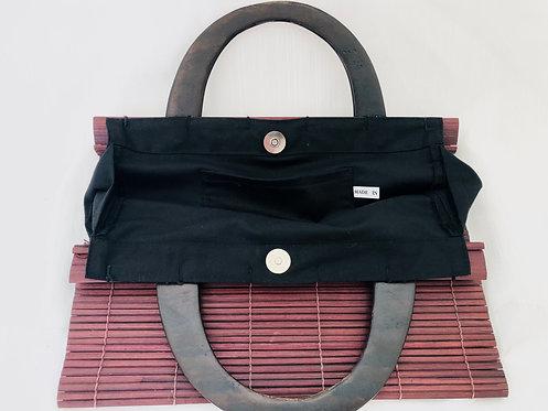 SOLD asian wood bag
