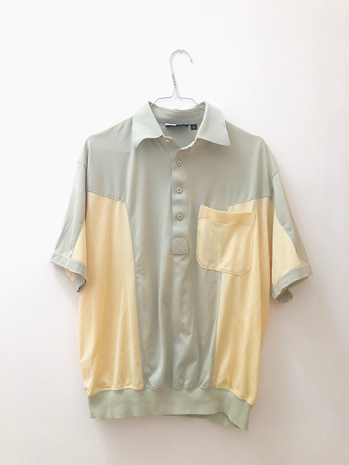 SOLD grey and yellow vintage polo