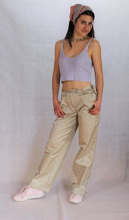 shiny wide leg trousers