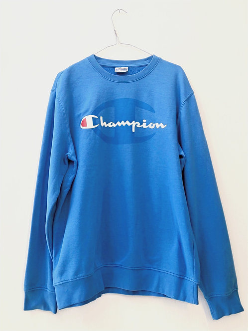 SOLD blue champion print sweater