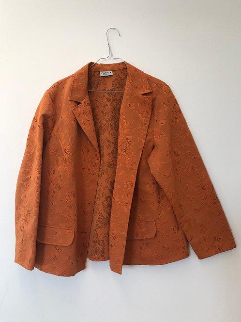 orange flower blazer