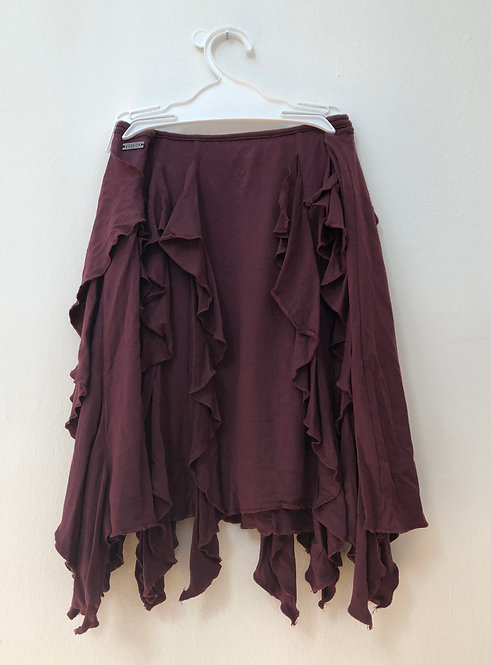 wine red escada skirt
