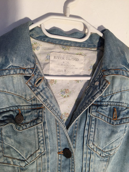 bright jeans jacket river island