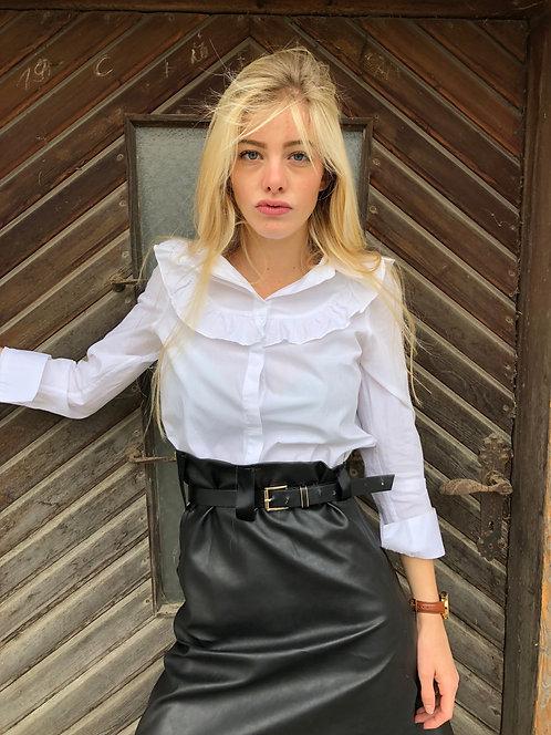 handmade leather optic skirt