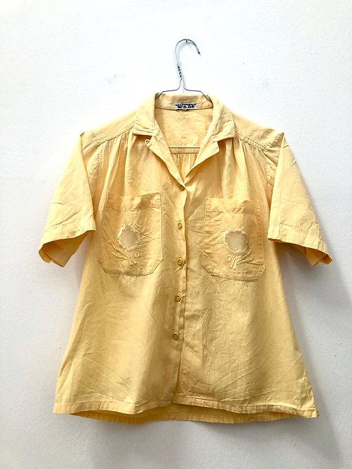 cute yellow vintage blouse