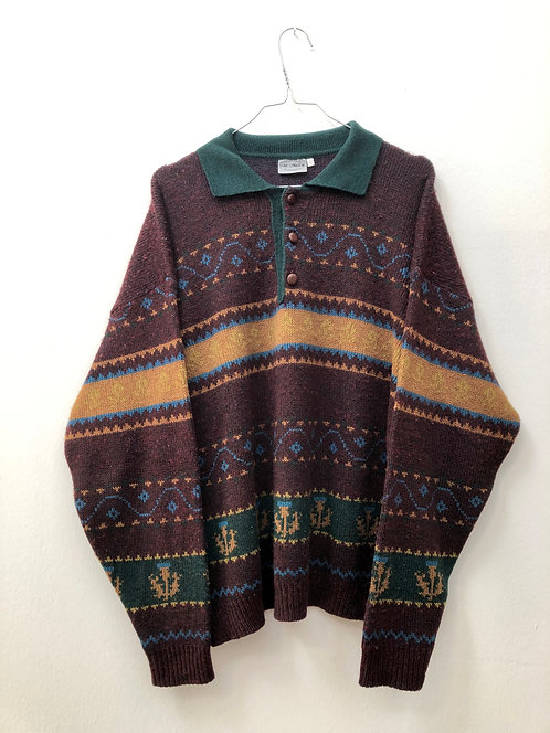SOLD burgundy wool sweater