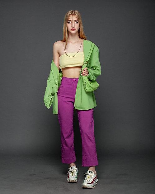 high waist purpur trousers