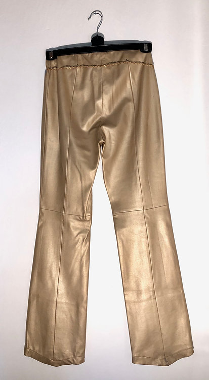 shiny gold trousers