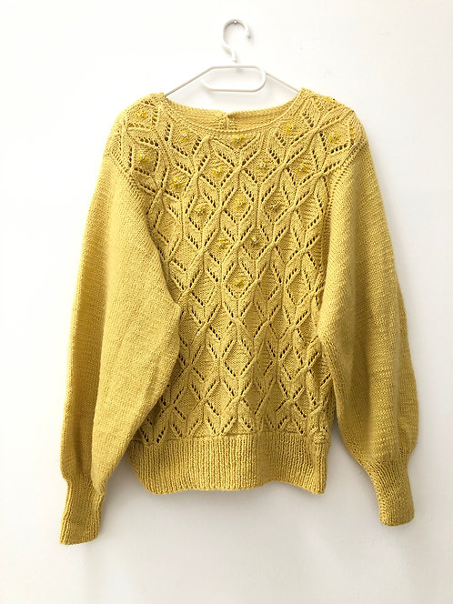 vintage knit pullover yellow