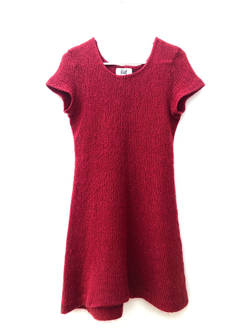 SOLD red wool mix dress
