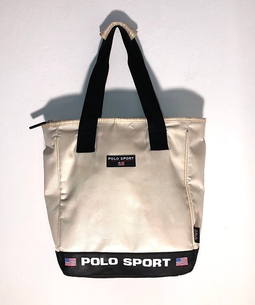 ralph lauren polo sport bag creme