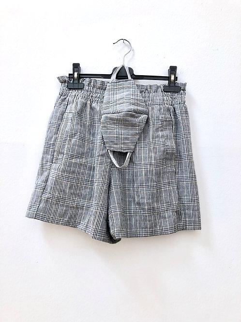 checkered set (shorts and mask)