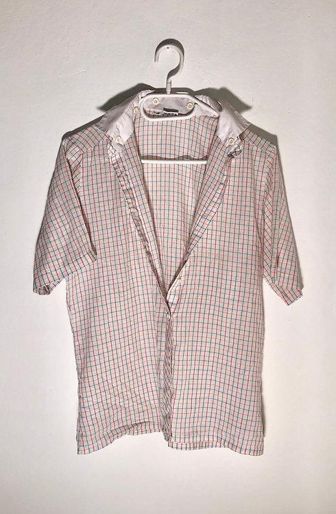button neck caro shirt