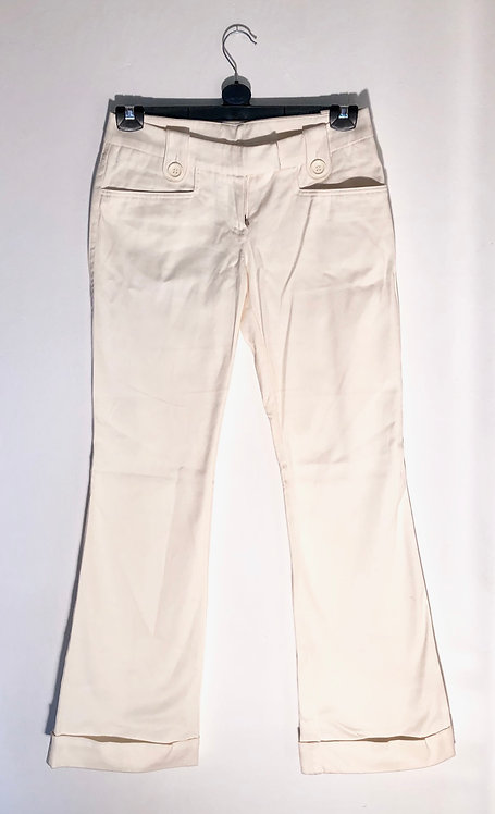 creme trousers wide leg