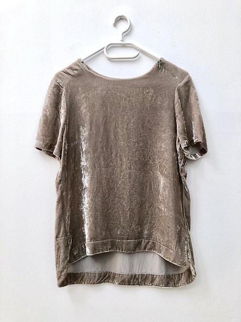 velvet top beige/grey